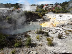 Georthermal activity at Rotorua
